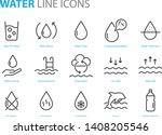 set of water icons  such as ... | Shutterstock .eps vector #1408205546