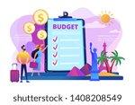couple planning honeymoon...   Shutterstock .eps vector #1408208549