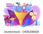 analysts analyzing market.... | Shutterstock .eps vector #1408208600
