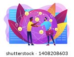 successful partnership... | Shutterstock .eps vector #1408208603