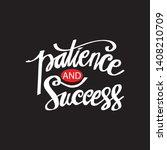 patience and success hand... | Shutterstock .eps vector #1408210709