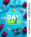 father's day sale promotion... | Shutterstock .eps vector #1408220543