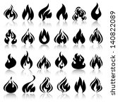 fire flames  set icons with... | Shutterstock .eps vector #140822089