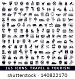 165 icons. travel and tourism...