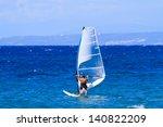 windsurfer in zakythos island... | Shutterstock . vector #140822209
