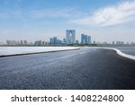 panoramic skyline with empty... | Shutterstock . vector #1408224800