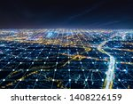 modern city with wireless... | Shutterstock . vector #1408226159