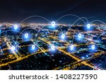 modern city with wireless... | Shutterstock . vector #1408227590