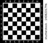 black and white chessboard ...   Shutterstock .eps vector #1408231796
