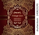 invitation vintage card with... | Shutterstock .eps vector #140823190