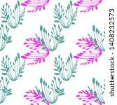 seamless pattern of plant... | Shutterstock .eps vector #1408232573