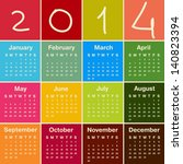 calendar 2014. | Shutterstock .eps vector #140823394
