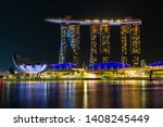 marina bay   singapore   april... | Shutterstock . vector #1408245449