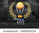 illustration of cricket live... | Shutterstock .eps vector #1408250210