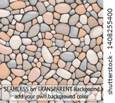 seamless pebbles stones... | Shutterstock .eps vector #1408255400