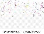 colorful confetti and ribbon... | Shutterstock .eps vector #1408269920