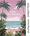 time to travel summer holidays... | Shutterstock .eps vector #1408277039