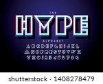 vector of stylized modern font... | Shutterstock .eps vector #1408278479