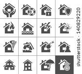 property insurance icon set.... | Shutterstock .eps vector #140829220