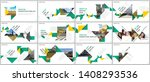 minimal presentations design ... | Shutterstock .eps vector #1408293536