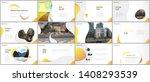 minimal presentations design ... | Shutterstock .eps vector #1408293539