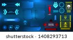 futuristic hud ui interface... | Shutterstock .eps vector #1408293713
