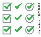 set of check mark icon. vector... | Shutterstock .eps vector #1408298909