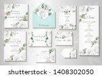 wedding invitation  menu ... | Shutterstock .eps vector #1408302050