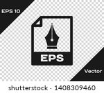 grey eps file document icon.... | Shutterstock .eps vector #1408309460