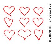 hand drawn heart icon sign   Shutterstock .eps vector #1408311533