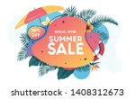 summer sale promo web banner....