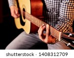 the guy plays the guitar  | Shutterstock . vector #1408312709