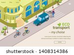 inscription eco transport my... | Shutterstock .eps vector #1408314386