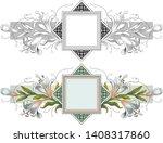 vector plant vignette for...   Shutterstock .eps vector #1408317860