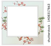 vector plant vignette for...   Shutterstock .eps vector #1408317863