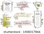 vector plant vignette for...   Shutterstock .eps vector #1408317866