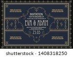 vector template flyer ...   Shutterstock .eps vector #1408318250