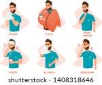 set of sick people feeling... | Shutterstock .eps vector #1408318646