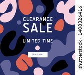 clearance sale banner template...