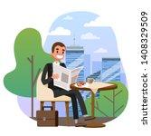 Businessman In The Suit Sittin...