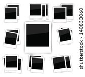 vector set of photo frame... | Shutterstock .eps vector #140833060