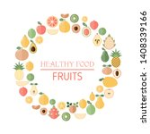 background with fresh fruits.... | Shutterstock .eps vector #1408339166