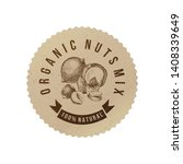 vector round label in eco style ... | Shutterstock .eps vector #1408339649