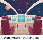 Spaceship Cockpit. Shuttle...