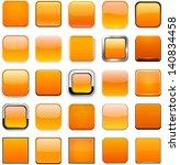 set of blank orange square... | Shutterstock .eps vector #140834458