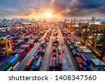 logistics and transportation of ... | Shutterstock . vector #1408347560