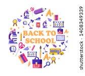 back to school  schoolbag ...   Shutterstock .eps vector #1408349339