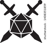 swords crossed with 20 sided  ... | Shutterstock .eps vector #1408351859