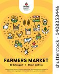 vector farmers market poster... | Shutterstock .eps vector #1408353446