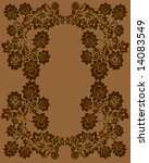 illustration with brown floral... | Shutterstock .eps vector #14083549